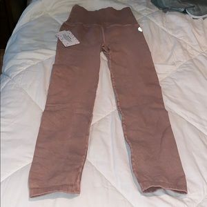 NWT Free People Movement leggings sz XS/S in mauve
